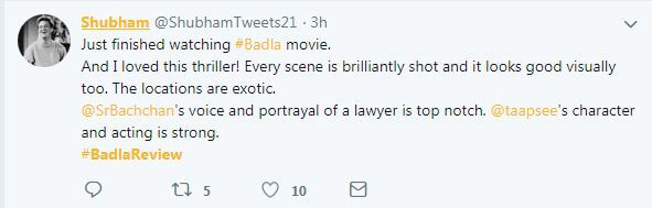 Badla Review.7